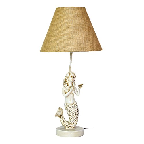 "22-1/2"" Mermaid Table Lamp W/Shade"