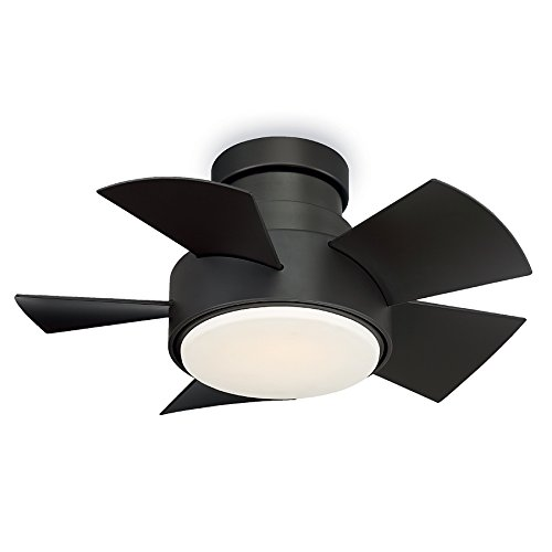 Modern Forms FH-W1802-26L-BZ Vox 26 Inch Five Blade Indoor/Outdoor Smart Fan with Six Speed DC Motor and LED Light in Bronze Finish Works with Nest, Ecobee, Google Home and IOS/Android App, (Best Outdoor Ceiling Fans 2019)
