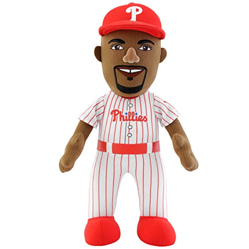 Phillies Player Mlb (MLB Philadelphia Phillies Jimmy Rollins Player Plush Doll, 10-Inch, White)