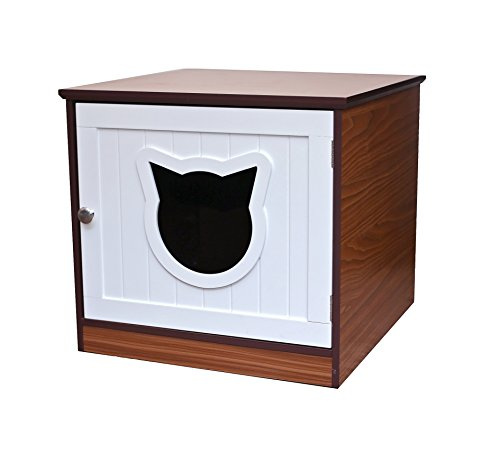 Sweetbarks Cat Home Nightstand | Indoor Pet Crate | Litter