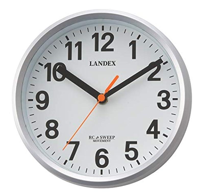 런 데크《스》(Landex) 벽시계 전파 아날로그 미니 플러스 직경18cm 연속 초침 두어 걸이 겸용 실버 YW9162SV