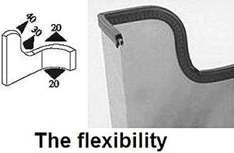 Seal Rubber/Joint noir large en U Hauteur 1,6/cm Plan de serrage 1/ 4,5/mm 100 Feet noir