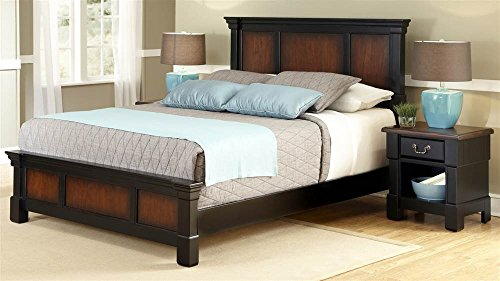 Home Styles The Aspen Collection King Bed and Night Stand (Aspen Bedroom Set)