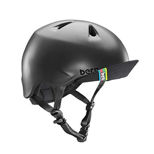 BERN - Kid's Nino Helmet, Matte Black w/Flip Visor, S/M (Bern Bike Helmets)