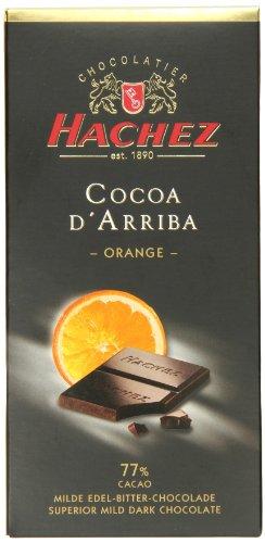 Hachez Cocoa D' Arriba Chocolate Bar, Orange, 3.5 Ounce