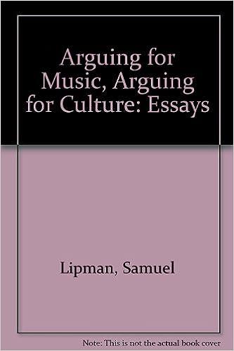 arguing for music arguing for culture essays samuel lipman arguing for music arguing for culture essays samuel lipman 9780879238216 com books
