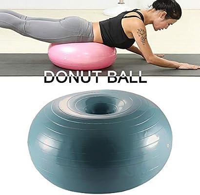 Sunnyushine Pelota de Yoga Pelota de Pilates, Bola Suiza, Donut ...