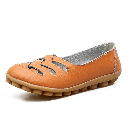 Rotonda Testa di Profondo Cuoio Shoe Donna Shop Bocca Colore Piatta Solido QXH Sandali brown Light QXH Poco 8qBw0
