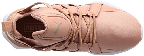 Women's Pointe Peach Satin White Muse Puma en Echo Beige PvSw7Hq