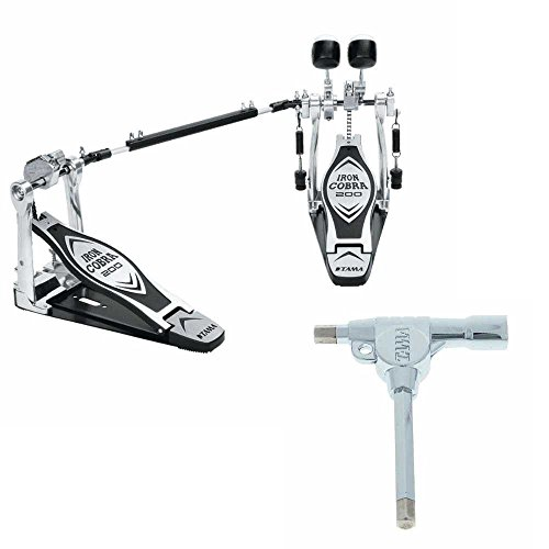 Tama HP200PTW Iron Cobra Double Pedal with Tama Drum Hammer