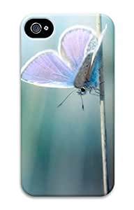 Case For Iphone 5C Cover Beautiful Blue Butterfly Pattern Hard Back Skin For
