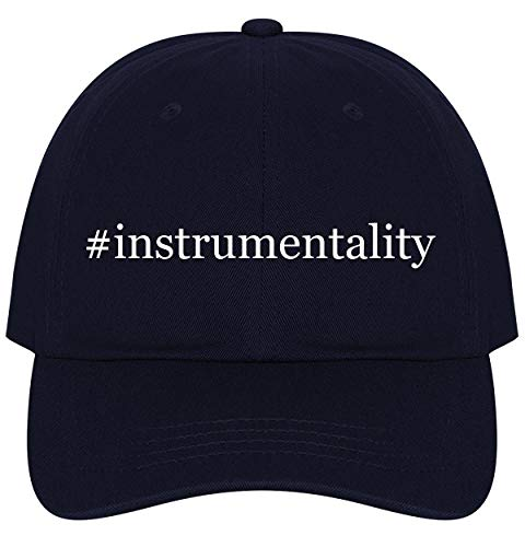 The Town Butler #Instrumentality - A Nice Comfortable Adjustable Hashtag Dad Hat Cap, Navy, One Size