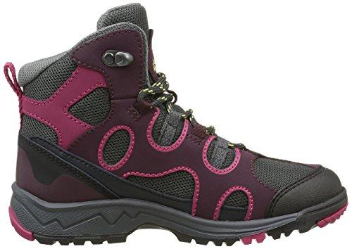Jack Wolfskin Unisex-Kinder Crosswind Texapore Low-Top Trekking-& Wanderhalbschuhe Dark Berry
