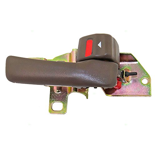 - Passengers Inside Interior Inner Brown Door Handle with Trim Bezel Replacement for 92-96 Toyota Camry 69277-32060-S4 69205-32070-W3