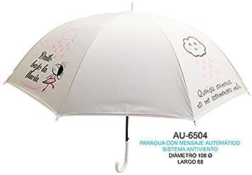 REGALO Paraguas translucido adulto 65cm con mensaje
