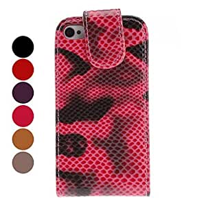 YXF Protective Snakeskin PU Leather Case for iPhone 4 and 4S (Assorted Colors) , Brown