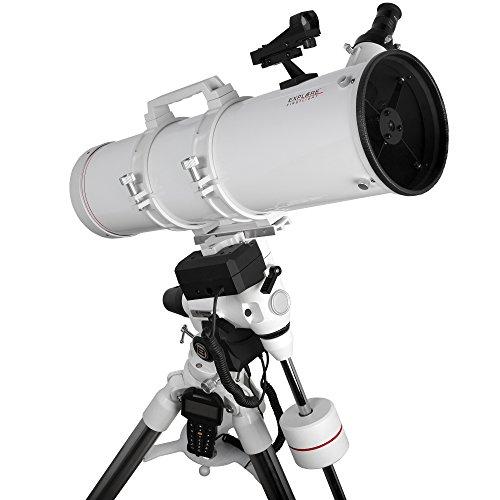 Explore Scientific FL-N150750EXOS2GT Newtonian Telescope with Exos-2 Mount with Goto, 150mm, White by Explore Scientific