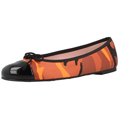 Ballerinas Colore Per Le Scarpe Donne Pretty Donne Arancione Ballerina Modello Shade Marca Arancione qYdwUWx1g