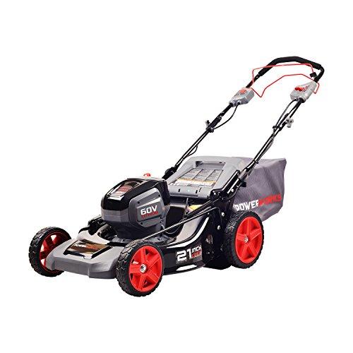 Works Power Powerworks MO60L02PW Mower, Black, Grey, Red by Works Power