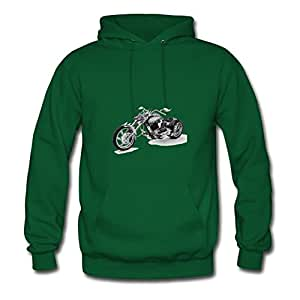 Designed Informal Motorcycle Chic Sweatshirts In Green Women Cotton X-large