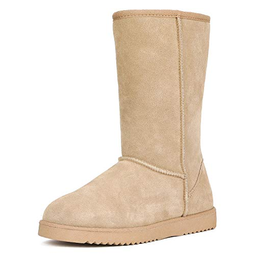 DREAM PAIRS Women's Shorty-HIGH Sand Knee High Winter Snow Boots Size 12 M US ()