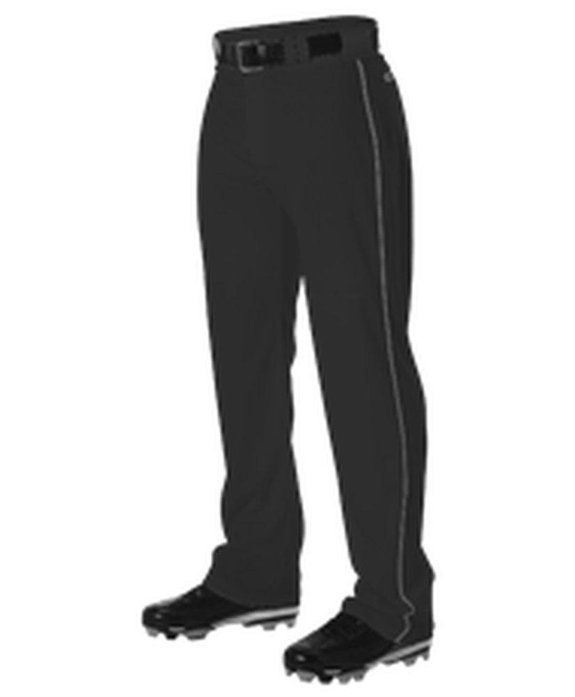 Alleson Athletic PANTS メンズ B072KMY9BX Large|Black, Charcoal Black, Charcoal Large