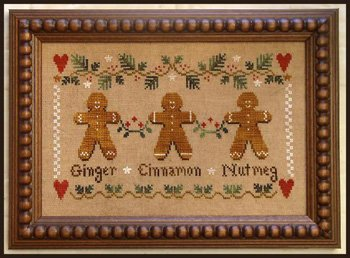 Gingerbread Trio Cross Stitch Chart and Free - Gingerbread Embellishments