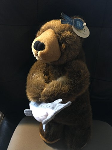 Used, Jaag Black Bear Holding Fish Plush for sale  Delivered anywhere in USA