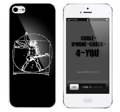 Iphone 5 Case Leonardo da vince Rocks Rahmen weiss