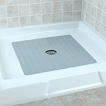 Square Rubber Safety Shower Mat With Microban
