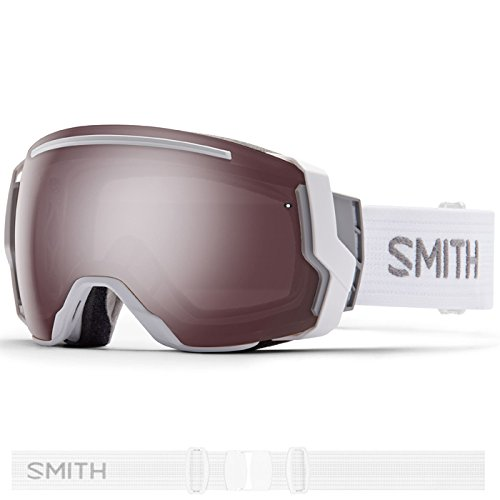 Smith Optics I/O 7 Adult Interchangable Series Snocross Snowmobile Goggles Eyewear - White / Ignitor Mirror / Medium by Smith Optics