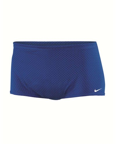 Nike Poly Core Solid Reversible Mesh Drag Short TESS0054 Navy Blue Size-36