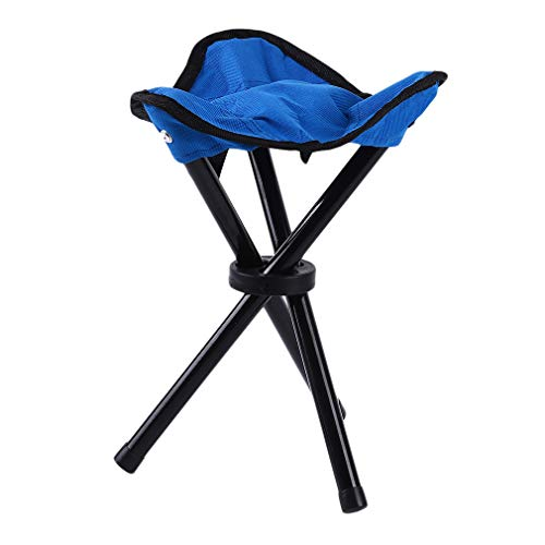 DearAnswer Triangle Folding Stool Fishing Stool Three Feet Chair Outdoor Camping Picnic Stool,Blue ()