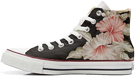 Schuhe Sneakers American USA Original personalisierte by MYS - Handmade Shoes - Blumen Rosa