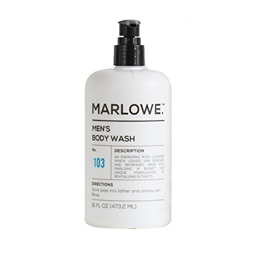 MARLOWE. No. 103 Men's Body Wash 16 oz | Energizing & Refreshing | Made with Natural Ingredients | Aloe & Green Tea Extracts by Marlowe