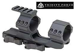 Trinity Force One Piece Offset 30mm & 1 Inch Scope Quick Release Mount Picatinny