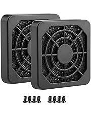 S SIENOC PCI slotafdekking met schroeven en ventilatorafdekking met ultrafijn stoffilter (2 x filterbox 40 x 40 mm, zwart)