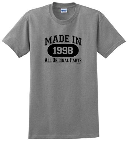 21st Birthday Gift Made 1998 All Original Parts T-Shirt 2XL Sport Grey