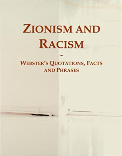 Book Zionism and Racism: Webster's Quotations, Facts and Phrases