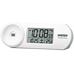 SEIKO CLOCK ( Seiko clock ) RAIDEN ( Leiden ) large volume digital radio alarm clock ( white ) NR532W