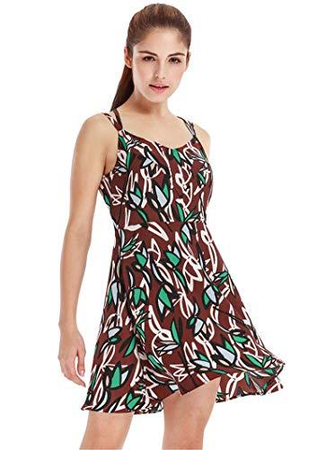 パリティ鋸歯状湿地Ccoco Vessos Womanノースリーブフラワーカクテルイブニングパーティーファッションセクシーなドレス - 赤 - M