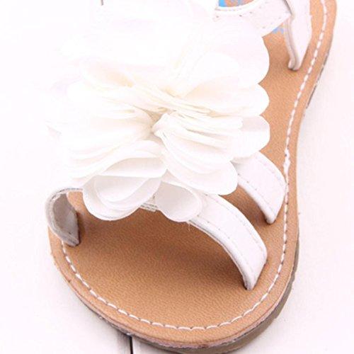 Tefamore Zapatos sandalias bebé recién nacidos lindos de la flor del Peonía Niño pequeño Blanco