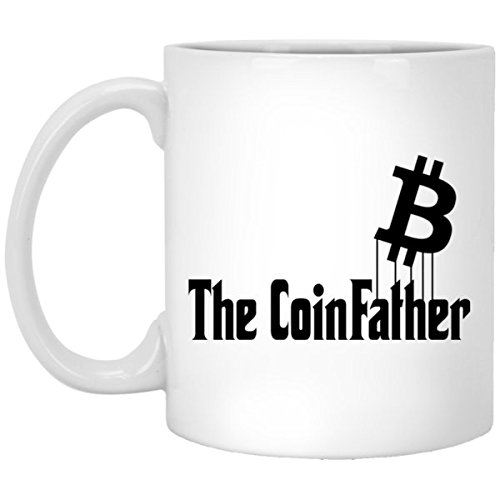 SAYOMEN - Funny Bitcoin Cryptocurrency Mug - Bitcoin Gift Investor Crypto Currency Coffee Mug - Bitcoin Sign Parody Godfather Mug, MUG 15oz