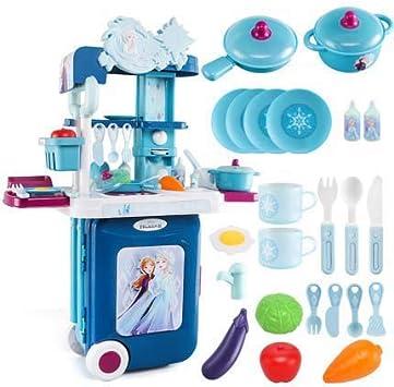 Baby rabbit-SS Juego de Cocina para niños Juguete de la casa de la niña Cocinar Arrocera Conjunto 3 en 1 Caja de la Carretilla de Cocina