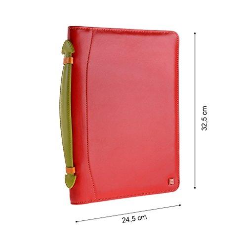 Dudu Portadocumentos Ipad Multicolor Rojo Piel De Para Maletìn B4wqpYZAY