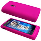 Cbus Wireless Hot Pink Silicone Case / Skin / Cover for Sony Ericsson Xperia X10