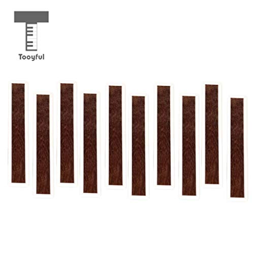 Value-5-Star - 10pcs Classical Guitar Bridge Tie Blocks Bone Inlay Wood for Guitar Parts Accessories ()