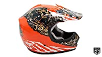 HHH DOT Youth & Kids Helmet for Dirtbike ATV Motocross MX Offroad Motorcyle Street bike ORANGE CAMO + WITH FREE GLOVES AND GOGGLES (Large) from Hard Head Helmet