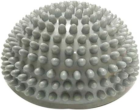 Fenfangxilas Massage Ball, Inflation Hemisphere Durian Foot Sole Muscle Stress Relief Toy for Kids Adults Silver