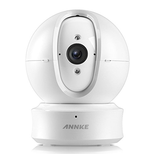 ANNKE Home Camera, 1080P HD Pan/Tilt Wi-Fi Wireless Security IP Camera, Work with Alexa (Echo Show/Fire TV), Google Assistant and IFTTT, Cloud Service Available